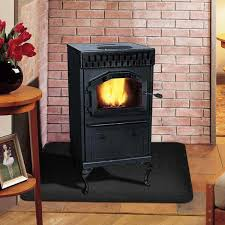 magnum baby countryside flex fuel pellet stove with black door and