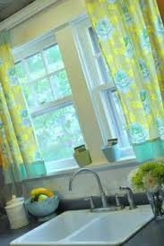 Bright Colorful Kitchen Curtains Inspiration Modern Kitchen Curtain Panel With Brightly Colored Flowers In Our
