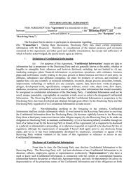 Non Disclosure Statement Template by Non Disclosure Agreement Free Edit Fill Pdf Template