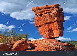 natural geological phenomenon found garden gods stock photo