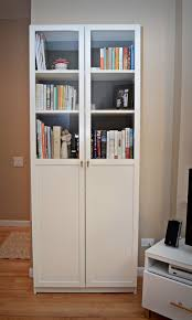 furniture home white wooden tall book cabinet with glass door