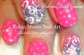 easy valentine nails pink polka dots u0026 ombre hearts nail design