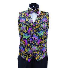 mardi gras tie mardi gras vest with matching bow tie 2 step n style fashion