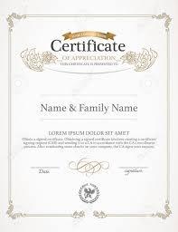 free template certificate personal development portfolio example