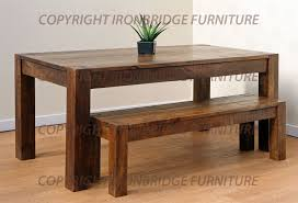 Rustic Bench Dining Table Dining Table Benches With Natty Concept Artistic Home Interior
