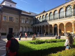 what is a courtyard seville spain i did not fall madly in love with generalissimo