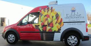edible delivery ford transit connect wrap does duty orange ca