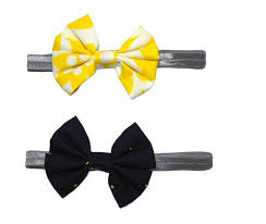 yellow headband bow headbands yellow floral navy polka popsicle baby