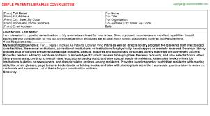 patient financial counselor cover letters
