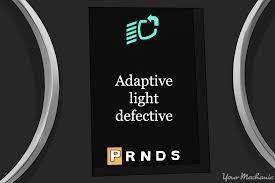 What Does It Mean When Your Brake Light Comes On What Does The Adaptive Lighting Indicator Warning Light Mean