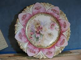 rs prussia bowl roses exquisite antique r s prussia floral plate pink fashioned