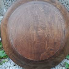 vintage carved wooden plate retro from empireantiques on etsy