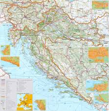 Map Of Asia With Cities by Croatia Maps Maps Of Croatia