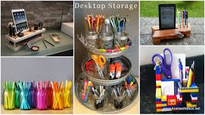 Desk Organization Diy 14 Smart Ways To Store And Organize Your Desk In Diy Projects