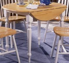 Kitchen  Drop Leaf Kitchen Table Sets Fabric Dining Chairs Brown - Round drop leaf kitchen table