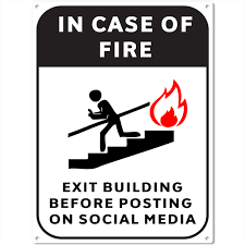 Game Room Wall Decor by Fire Escape Social Media Metal Sign Funny Bar Game Room Wall Decor
