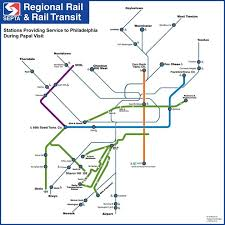 septa map the pope in philly septa will run more trains through fewer stops