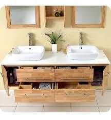 Bathroom Vanity Woodworking Plans Wall Mounted Makeup Vanity 72 Inch Modern Double Vessel Sink