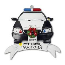 personalized police car christmas ornament by northpoleexpress