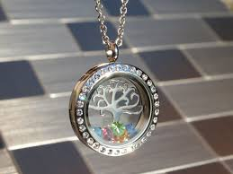 personalized family tree necklace swirly family tree locket ready to personalize wise creations
