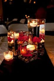Floating Candle Centerpieces by Rose Flower Petals Floating Candle Light Vase Wedding In 2014