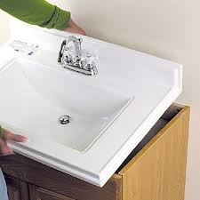 How To Install A Bathroom Vanity Vanity Top With Vessel Sink Bathroom Sink Tops Pmcshop
