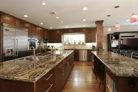 inimitable double sided kitchen islands with decorative glass