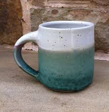 custom made hand thrown ceramic coffee mug by the singing potter