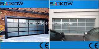 Glass Overhead Garage Doors Aluminum Frame Glass Panel Sectional Garage Door Mirror Glass