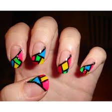 creative colorful nail designs