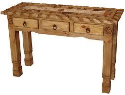 Pine Console Table Rustic Furniture Texana Star Mexican Rustic Pine Console Table