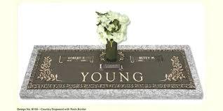 flat headstones marvelous flat headstones with vase barbcole info