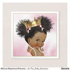 african american princess baby shower paper napkin ethnic