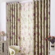Purple Floral Curtains Purple Floral Print Polyester Country Bedroom Curtains On Sale
