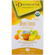 davidson u0027s tea organic meyer lemon tea with honey caffeine free