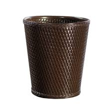 amazon com lamont home carter round wicker waste basket linen