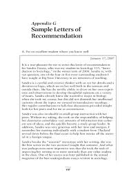sample letters of recommendation free download