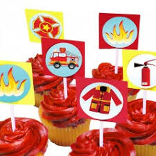 firefighter cupcake toppers cupcake rings picks cheap cupcake toppers
