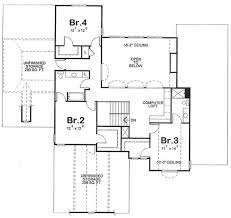 second floor plans house plan 120 2176 4 bdrm 3124 sq ft country farmhouse home plan