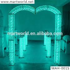 wedding arches and columns for sale 2018 rgb led light wedding decoration wedding arch wedding