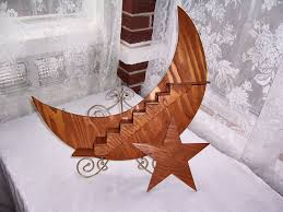 Crescent Stairs by Crescent Moon And Star Wall Decoration Art Deco Home Decor
