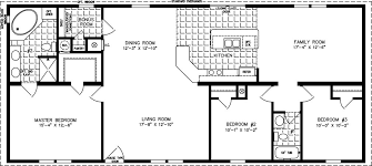 Open Floor Layout Home Plans 1600 Sq Ft The Tnr 46015b Manufactured Home Floor Plan