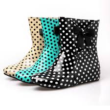 womens designer boots size 12 aliexpress com buy lloprost ke fashion wellies polka dot