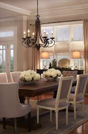 Decorating Dining Room Table Perfect French Country Dining Furniture Chandelier Over Table U