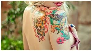 skull hummingbird tattoo designs for women on sleeve hummingbird