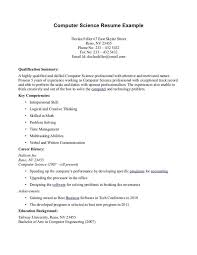 Actuarial Resume Computer Science Resume Template Computer Science Resume Example