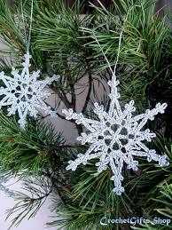 sale crochet patterns snowflake ornaments pdf