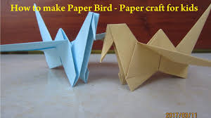 how to make paper bird paper bird origami flapping bird paper