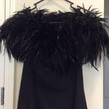 dave u0026 johnny vintage formal black feather dress from alex u0027s