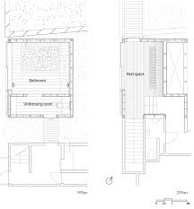 kubo tsushima creates curved interior inside bathhouse section click for larger image bath house maruhon by kubo tsushima architects